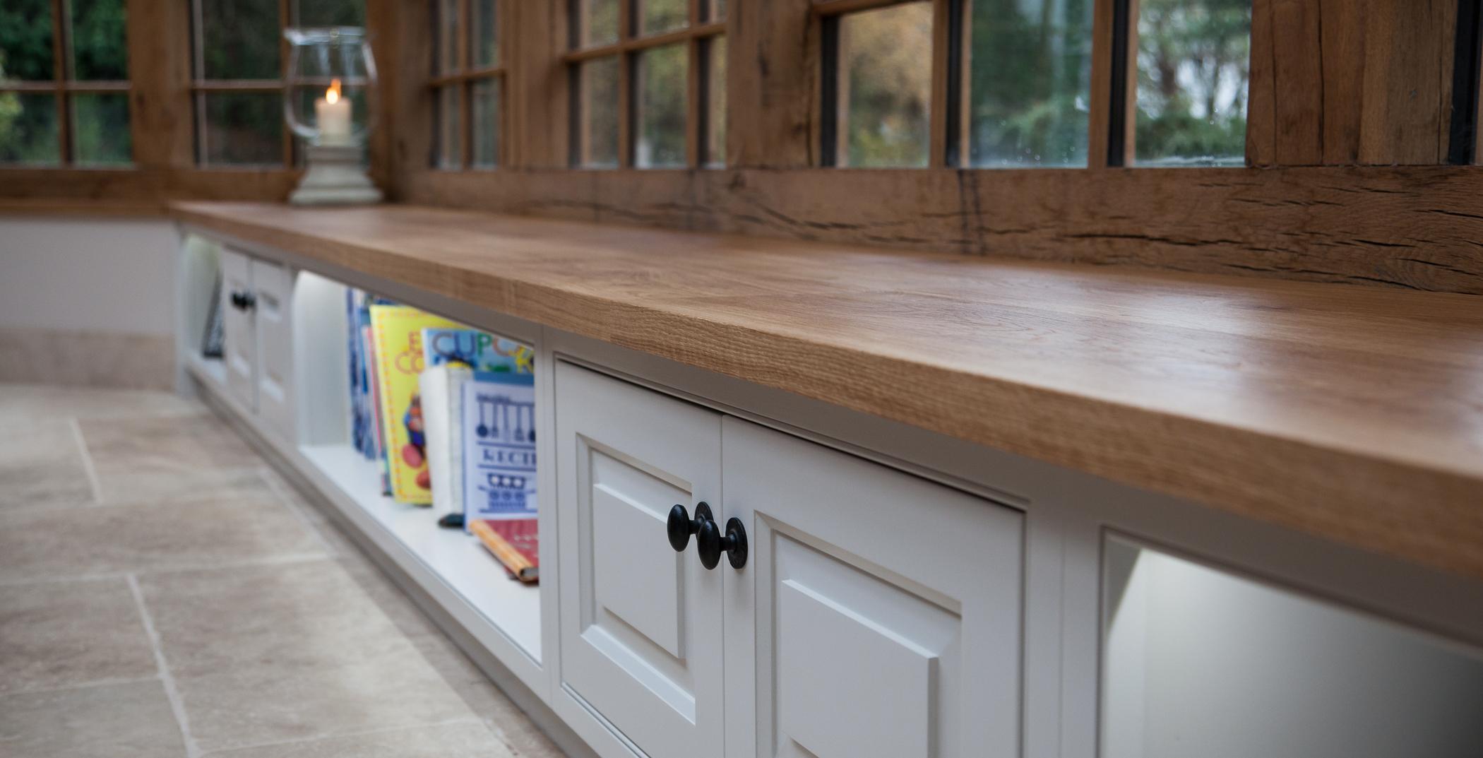 bespoke book case and cupboard